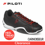 Piloti Prototipo GT Driving Shoes Black and Red Leather