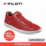 Piloti Pistone Driving Shoes Red Leather