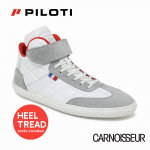 Piloti Le Mans 24hr Saint Honoré Hi Tops, White and Grey with Red Detail