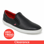 Piloti James Hunt 10 Special Edition Black and Red Slip On Shoes