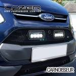 Lazer Black Tailored Upper LED Lamp Grille  to fit Ford Transit