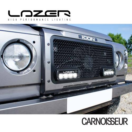Lazer Black Tailored Upper LED Lamp Grille  to fit Land Rover Defender