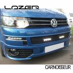 Lazer Black Tailored Lower LED Lamp Grille  to fit Volkswagen Transporter T5
