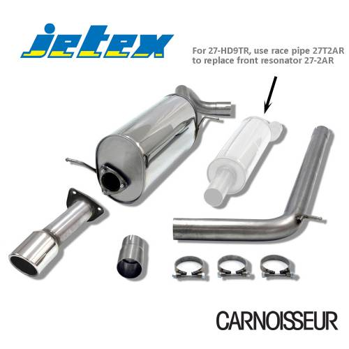 Half Exhaust System (non-resonated with racepipe) Audi A1 (8X) 1.2TSI (from 2011 onwards)
