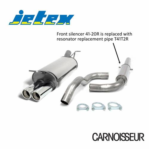 Half Exhaust System (non-resonated with racepipe) Audi A3 (8L) Petrol Turbo + TDI 1.8T/1.8Ti/1.9TDI (from 1996 to 2003)
