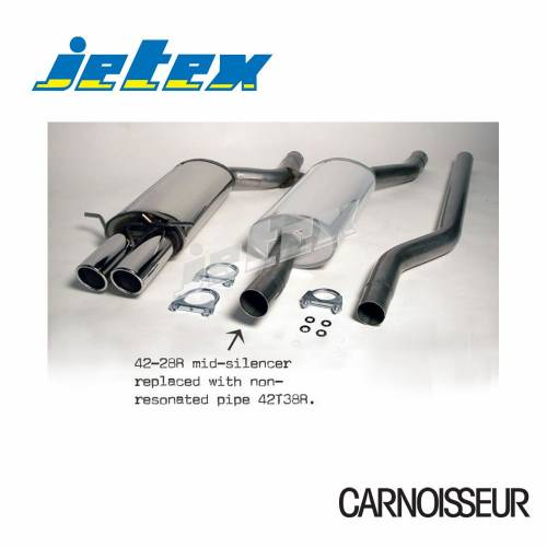 Half Exhaust System (non-resonated with racepipe) Audi A4 (B5) 1.8/1.9 Turbo Quattro 1.8T 150/180HP/1.9TDI 90/110/115HP (from 1994 to 2000)