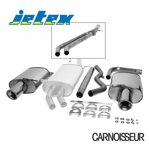 Half Exhaust System (non-resonated with racepipe) Audi A4 (B6) 2WD Petrol Turbo (01-05) 1.8T Saloon/Estate (also cabriolet B6/B7 01-09) (from 2001 to 2005)