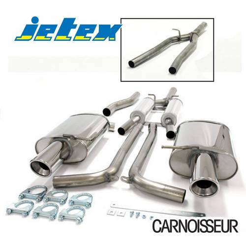 Half Exhaust System (non-resonated with racepipe) Audi A4 (B6) Quattro Turbo (01-05) 1.8T Saloon/Estate (also cabriolet B6/B7 01-09) (from 2001 to 2005)