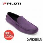 Piloti Officina Driving Shoes Plum Nubuck Leather
