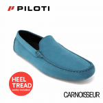 Piloti Officina Driving Shoes Teal Nubuck Leather