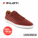 Piloti Pistone X Driving Shoes Burgundy Suede
