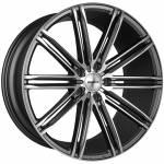 """Transporter CC-I 20"""" Gunmetal Polished Alloy Wheels (Set of 4) to fit Volkswagen Transporter T5"""