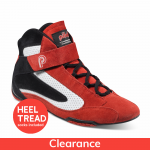 Piloti Competizione FIA Approved Racing Boots, Suede and Leather, Red with Black and White Detail