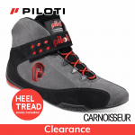 Piloti Superleggera FIA Approved Racing Boots, Suede, Charcoal with Black and Red Detail