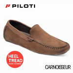 Piloti Officina Driving Shoes Brown Nubuck Leather