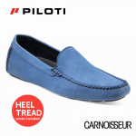 Piloti Officina Driving Shoes Blue Nubuck Leather